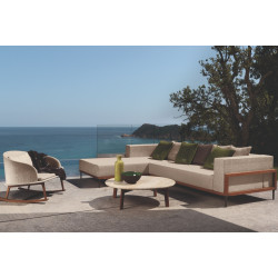 Talenti Cleo Teak Chaise Unit Left | Right