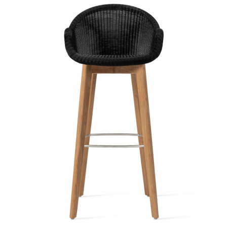 Vincent Sheppard Edgard Outdoor Bar Stool Teak Base