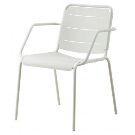 Cane-Line Copenhagen Stackable Aluminium Armchair - White