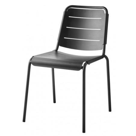 Cane-Line Copenhagen City Stackable Aluminium Chair - Lava Grey