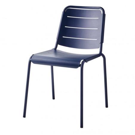 Cane-Line Copenhagen City Stackable Aluminium Chair - Midnight Blue