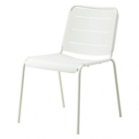 Cane-Line Copenhagen City Stackable Aluminium Chair - White