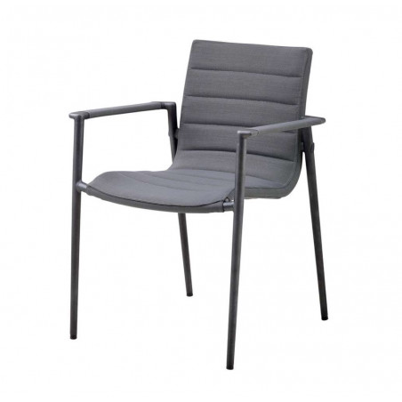 Cane-Line Core Stackable Softtouch Armchair - Grey