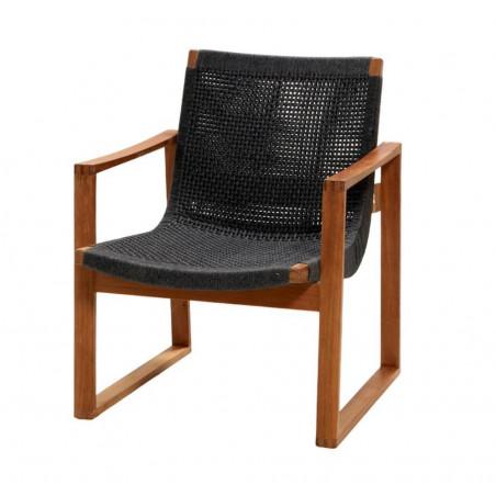 Cane-Line Endless Soft Rope Armchair Dark Grey With Teak Legs
