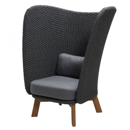Cane-Line Peacock Wing Highback Chair | Teak