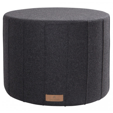 Shepherd Of Sweden Anja Round wool Pouf | Black