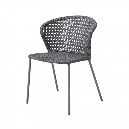 Cane-Line Lean Stackable French Weave Aluminium Chair