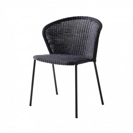 Cane-Line Lean Stackable Weave Chair - Black