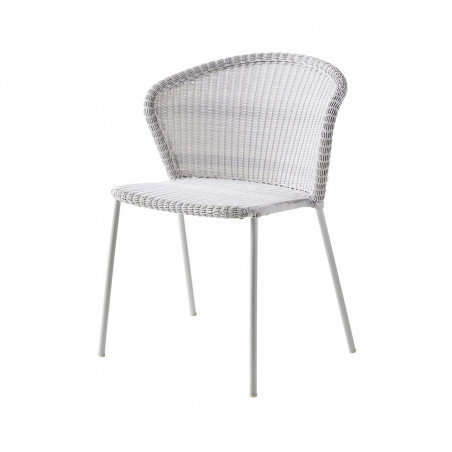 Cane-Line Lean Stackable Weave Chair - White Grey