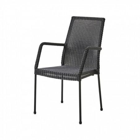 Cane-Line Newport Stackable Weave Armchair - Black