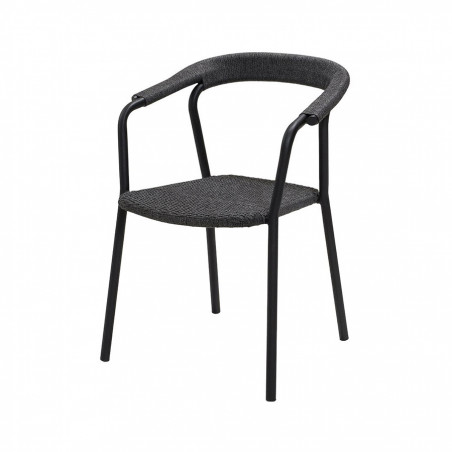 Cane-Line Noble Soft Rope Stackable Armchair - Dark Grey