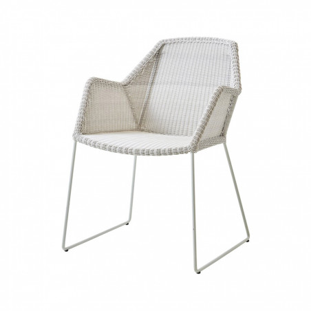 Cane-Line Breeze Weave Chair White Grey