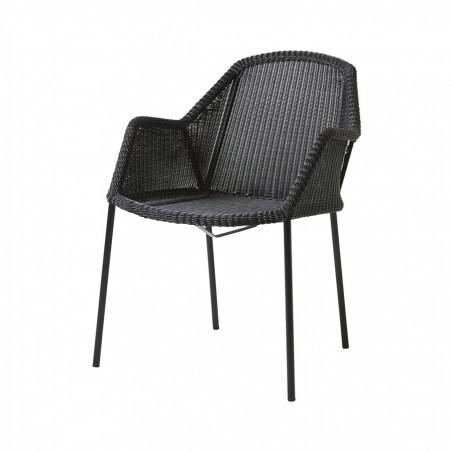 Cane-Line Breeze Stackable Weave Chair Black