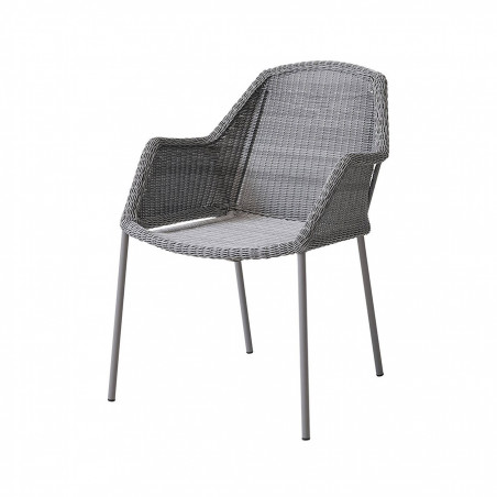 Cane-Line Breeze Stackable Weave Chair Light Grey