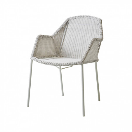Cane-Line Breeze Stackable Weave Chair White Grey