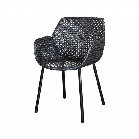 Cane-Line Vibe Weave Armchair - Black/Antracite