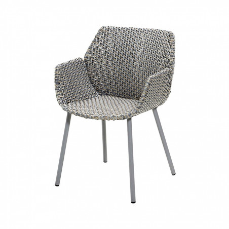 Cane-Line Vibe Weave Armchair - Light Grey/Grey/Taupe