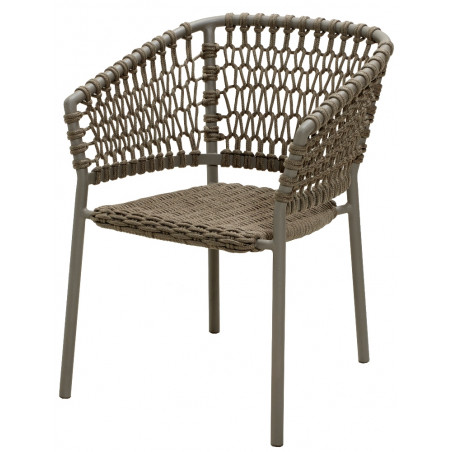 Cane-Line Ocean Soft Rope Stackable Chair - Taupe