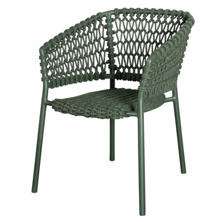 Cane-Line Ocean Soft Rope Stackable Chair - Dark Green