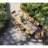Cane-Line Flip Folding Table, Large, 80 X 140cm, Teak
