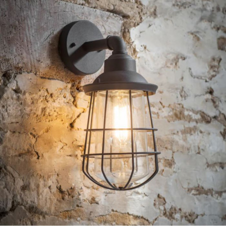 Garden Trading Finsbury Outdoor Wall Light | Charcoal
