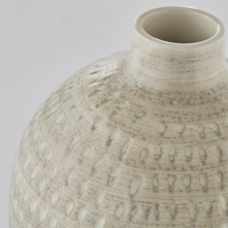 Lene Bjerre Cassandra Tall Vase H35 cm Silver Grey