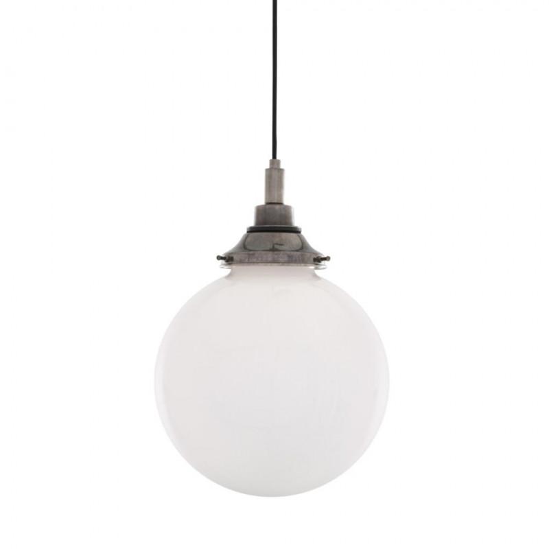 Mullan Lighting Outdoor Pelagia Opal Globe 25cm Pendant Light