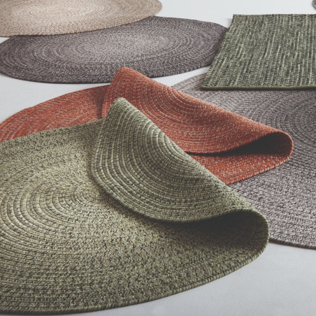 Gloster Outdoor Rug Round Ombre Moss