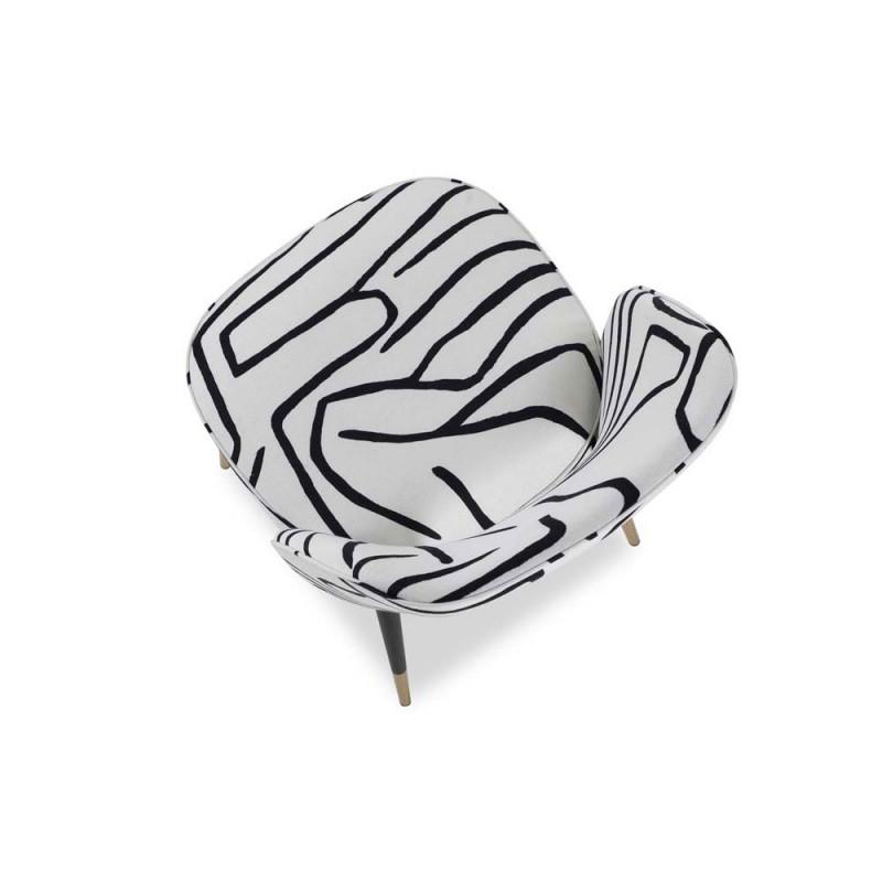 Liang & Eimil Jagger Dining Chair - Zebra Black & White (Set Of 2)