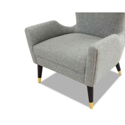 Liang & Eimil Vendome Occasional Chair - Emporio Grey Fabric