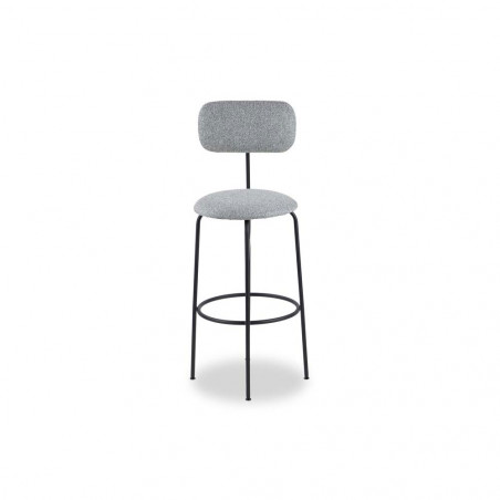 Liang & Eimil Seclus Bar Stool - Emporio Grey Fabric