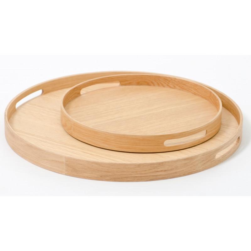 Wireworks Busboy 450 Round Tray | Natural Oak