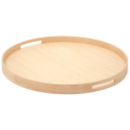 Wireworks Busboy 450 Round Tray | Natural Oak