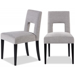 Liang & Eimil Venice Dining Chair Ash Grey Chenille