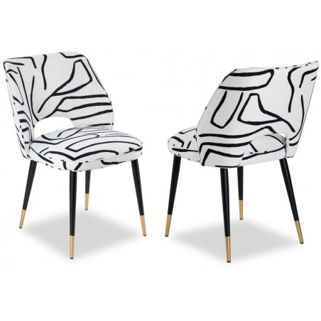 Liang & Eimil Jagger Dining Chair - Zebra Black & White (Set Of 2)