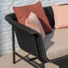 Vincent Sheppard Black Wicked 3 ST Sofa Almond Spice Bluch