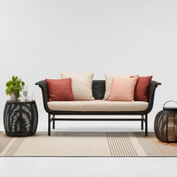 Vincent Sheppard Black Wicked 2 ST Sofa Almond Spice Bluch