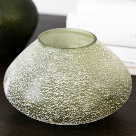 House Doctor Miles Glass Vase - Green