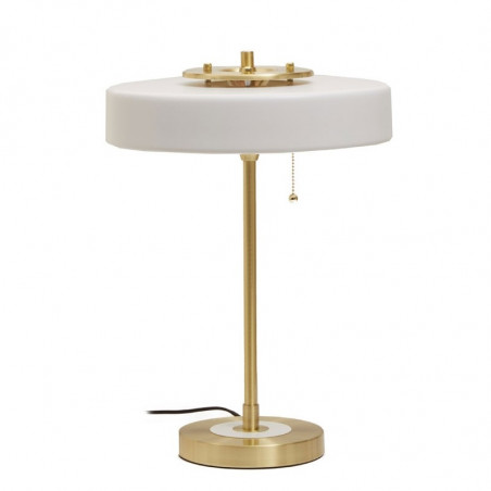 Savoy Table Lamp Brass Opal Glass