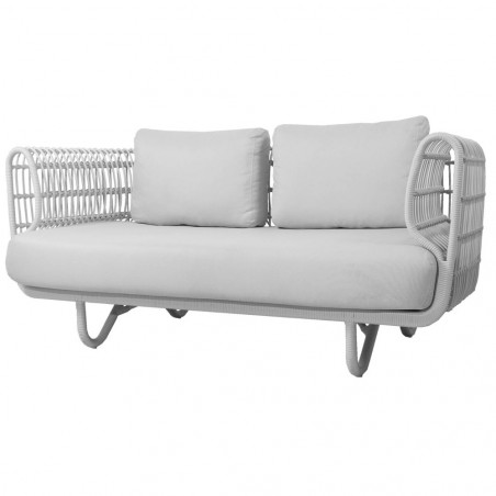 Cane-Line Nest 2-Seater Outdoor Sofa White