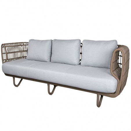Cane-Line Nest 3-Seater Outdoor Sofa Natural