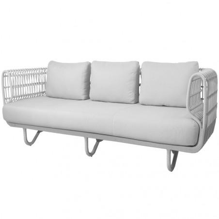 Cane-Line Nest 3-Seater Outdoor Sofa White