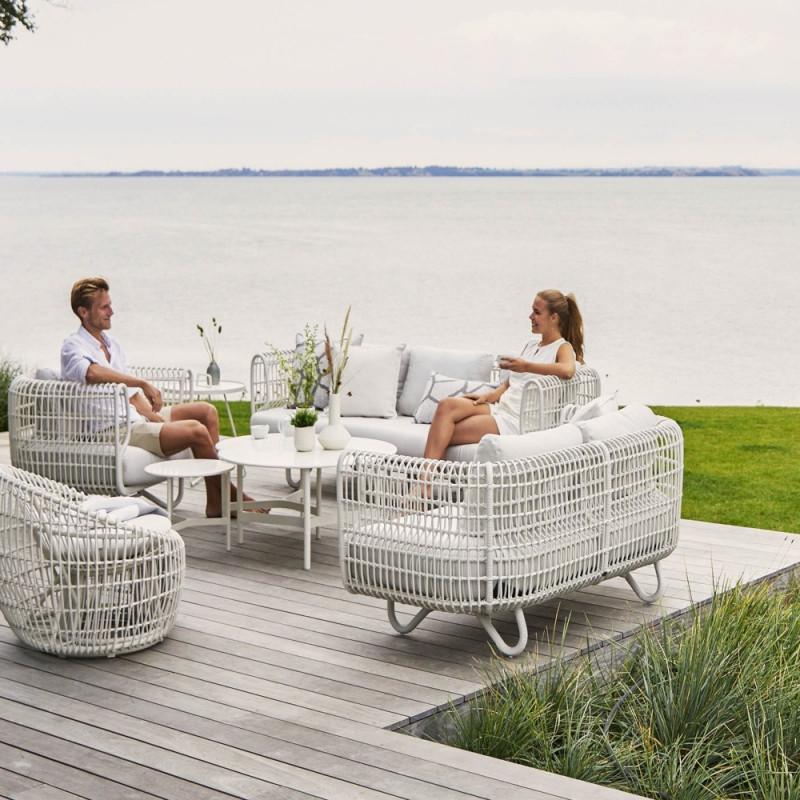 Cane-Line Nest Outdoor Round Chair White