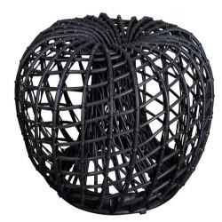 Cane-Line Nest Outdoor Footstool Small Dia. 67Cm Lava Grey