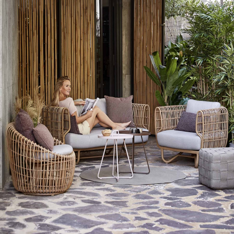 Cane-Line Nest Outdoor Lounge Chair Natural
