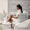 Cane-Line Nest Outdoor Lounge Chair White