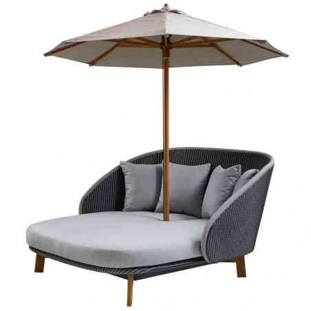 Cane-Line Peacock Daybed Weave And Light Grey