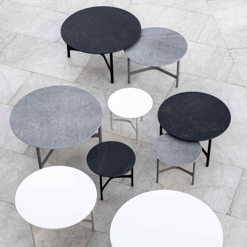 Cane-Line Twist Coffee Table Medium Aluminium
