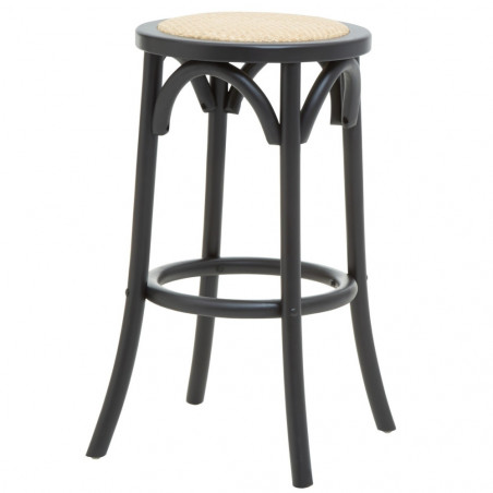 Counter Stool with Natural Rattan Seat