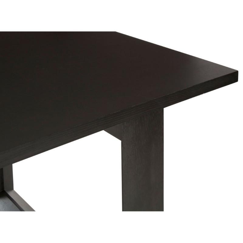 Geometric Diamond Dining Table in Dark Wood